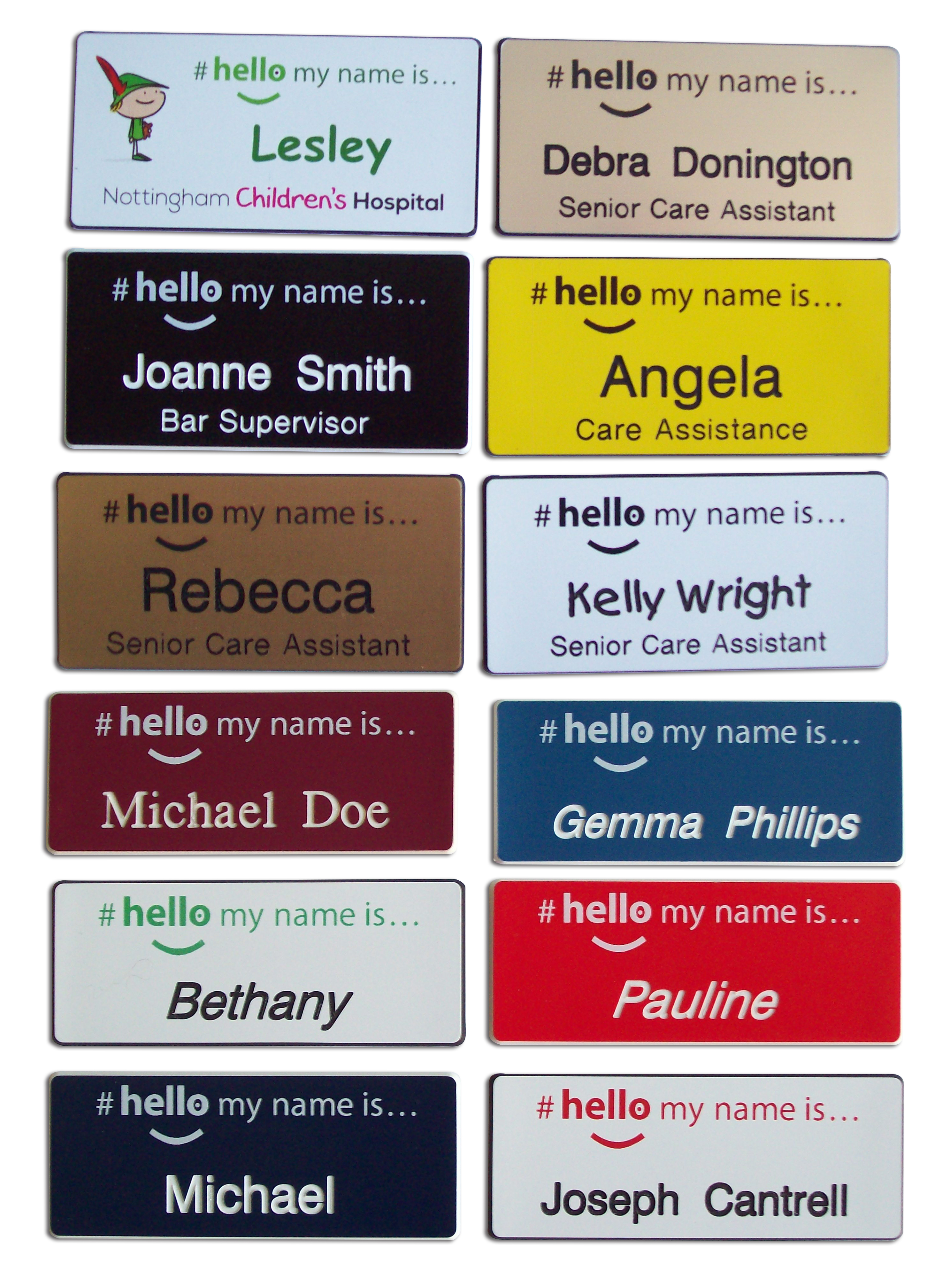 Hello my name is... badges